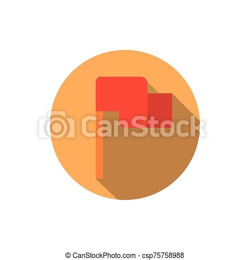 sombra, meta, estrategia, bandera, icono, bloque, empresa / negocio - csp75758988