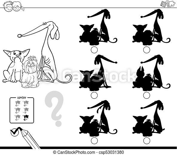Sombras Educativo Color Juego Libro Perros
