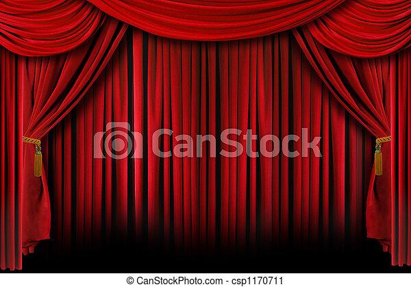 sombras, vermelho, profundo, cortinas - csp1170711