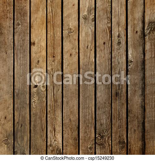 sombre, bois, vecteur, planche, fond - csp15249230