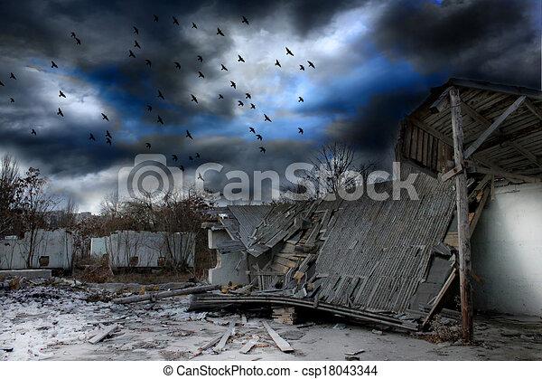 Sombre paysage apocalypse dessin rechercher des - Dessin sombre ...