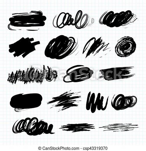 sombre, taches, blots., gribouiller - csp43319370