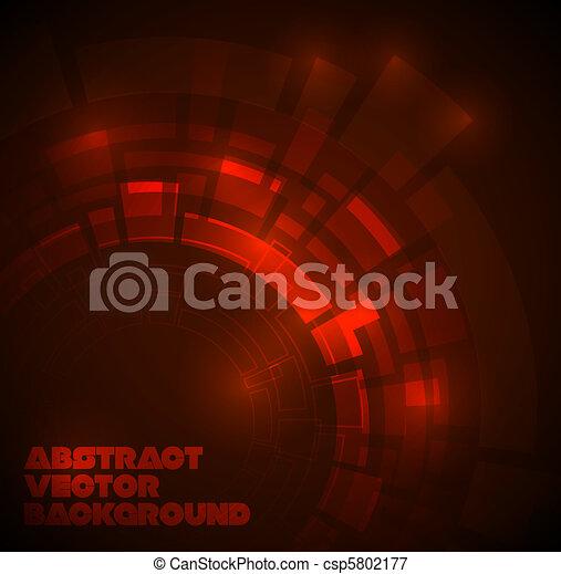 sombre, technique, résumé, arrière-plan rouge - csp5802177