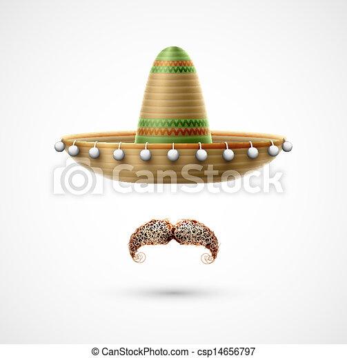 Sombrero and mustache - csp14656797
