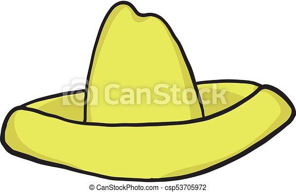 sombrero cartoon icon isolated on white background vectors rh canstockphoto com mouse sombrero cartoon sombrero mexicano cartoon