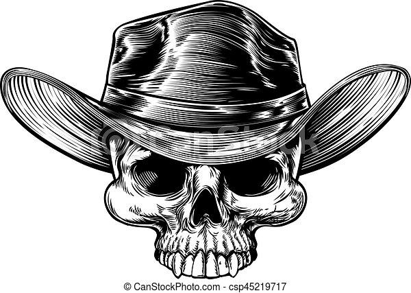 Dibujo de sombrero de vaquero - csp45219717