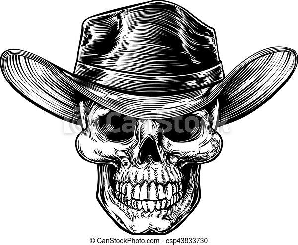 Dibujo de sombrero de vaquero - csp43833730