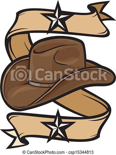 Diseño de sombreros de vaquero - csp15344813