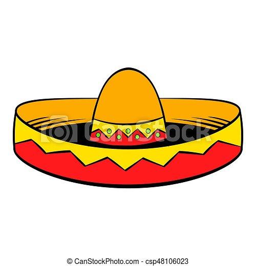 sombrero icon cartoon sombrero icon in cartoon style isolated rh canstockphoto com sombrero mexicano cartoon sombrero cartoon image