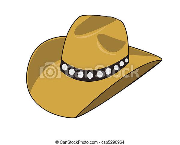 La ilustración de un sombrero de vaquero - csp5290964