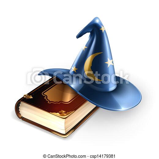 Sombrero mágico y libro viejo - csp14179381