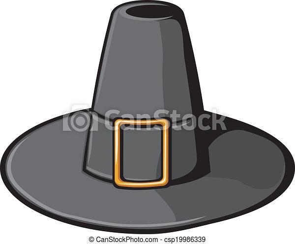 sombrero negro, peregrino - csp19986339