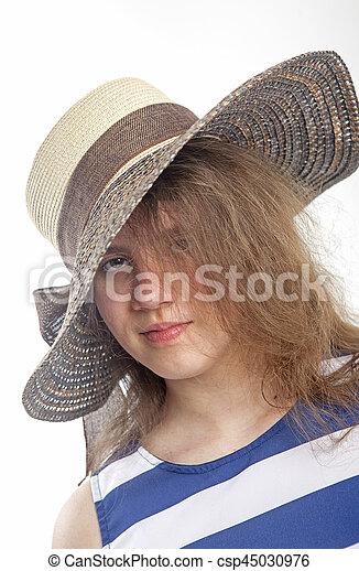 sombrero, niña - csp45030976