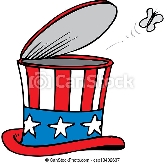 Sombrero patriótico americano - csp13402637