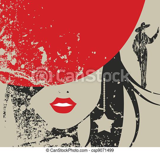 sombrero, rojo - csp9071499