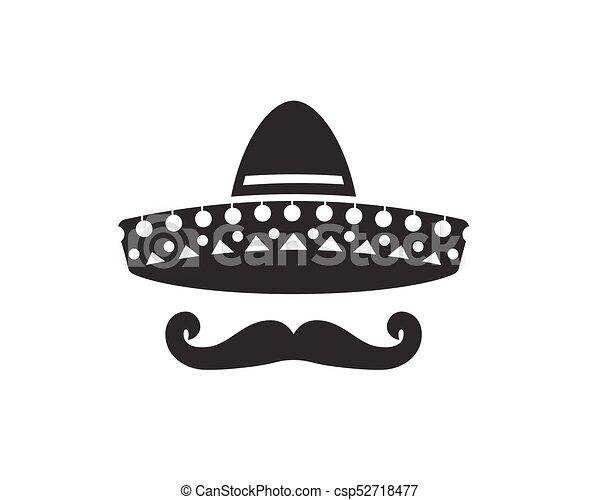 Sombrero, sombrero, silueta, bigote. Sombrero, bigote, sombrero ...