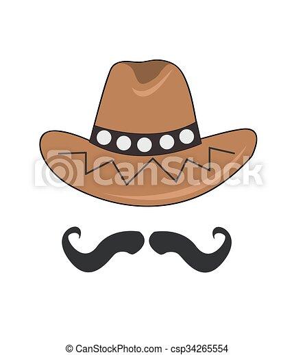Sombrero de vaquero - csp34265554
