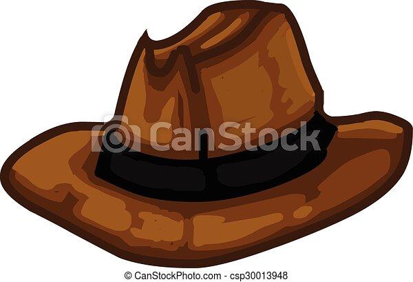 Sombrero de vaquero - csp30013948