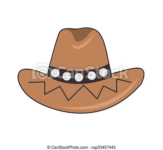 Sombrero de vaquero - csp33457443