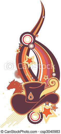 Sombrero de vaquero - csp3040983