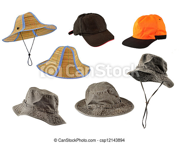 Un juego de gorras y sombreros - csp12143894