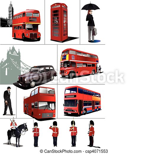 Some London images. Vector illustra - csp4071553