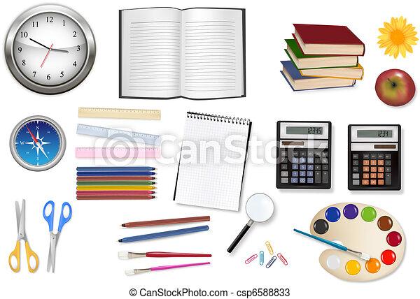 some office supplies. Vector. - csp6588833