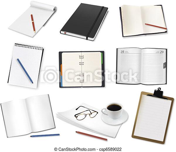 Some office supplies. Vector.  - csp6589022