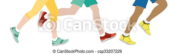 Some People jogging - csp33207226