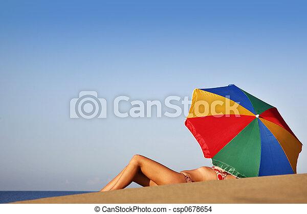 sommar, strand, barnunge - csp0678654