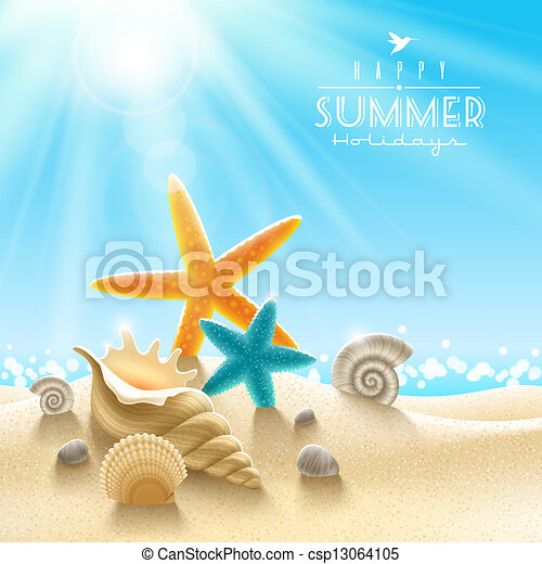 Sommerferien-Illustration - csp13064105