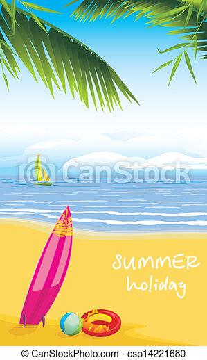 sommer feiertag, sandstrand, leisure. - csp14221680