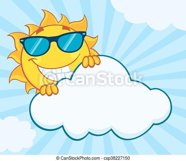 sommer, lächeln, zeichen, sonne - csp38227150
