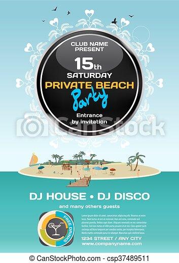 Sommer, oder, strand., island., crowd, pier, bikinis, sandstrand ...