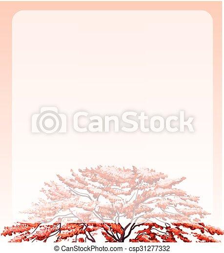 sommet arbre, frontière, conception - csp31277332