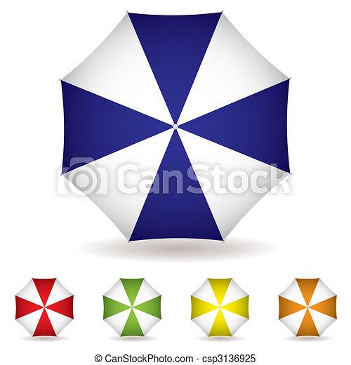sommet, parapluie, collection - csp3136925
