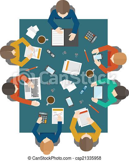 sommet, réunion, business, vue - csp21335958
