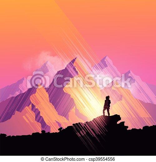 sommets montagne - csp39554556