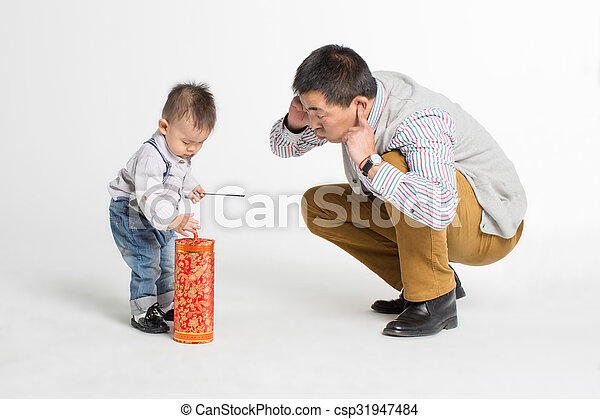 son and his beloved father - csp31947484
