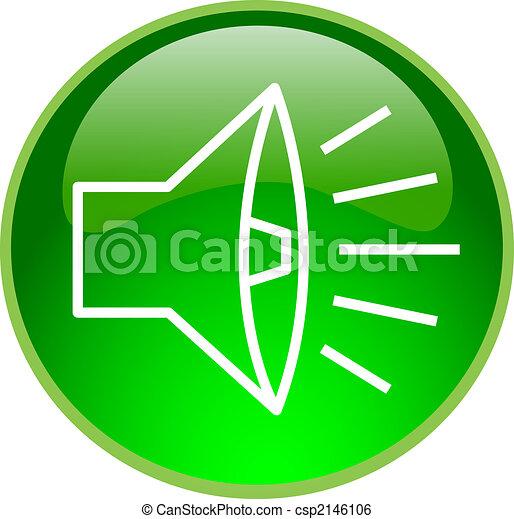 son, bouton, vert - csp2146106
