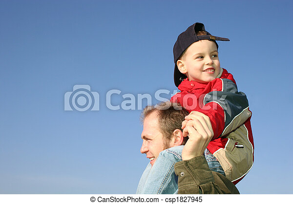 son on father shoulders - csp1827945