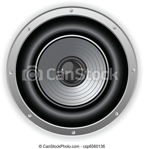 son, orateur, rond, isolé - csp6560136