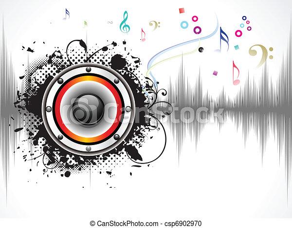 son, résumé, musical, fond - csp6902970