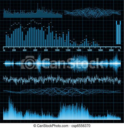 son, set., eps, arrière-plan., musique, vagues, 8 - csp6556370