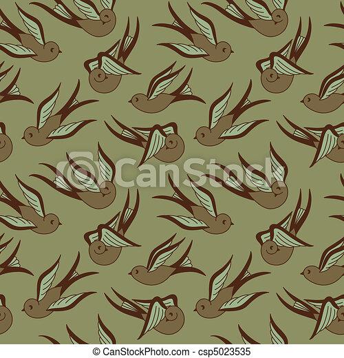 Songbird Seamless Pattern  - csp5023535