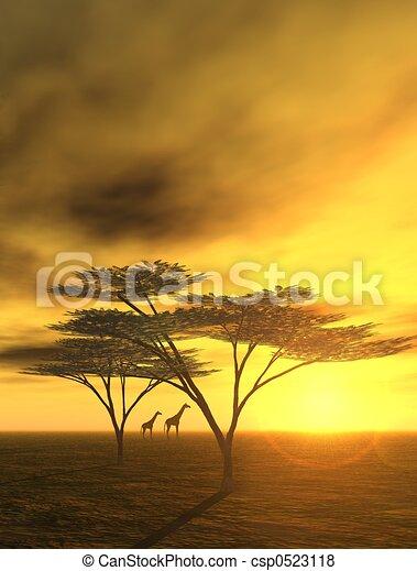 sonho, africano - csp0523118