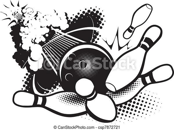 Sonic Boom Bowling - csp7872721