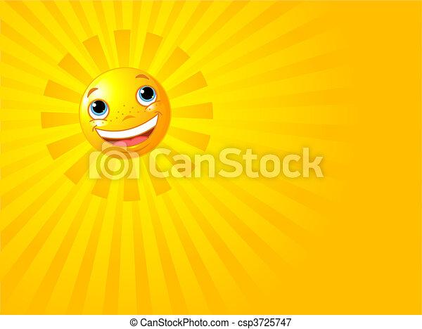 Frohes Lächeln im Sommer - csp3725747