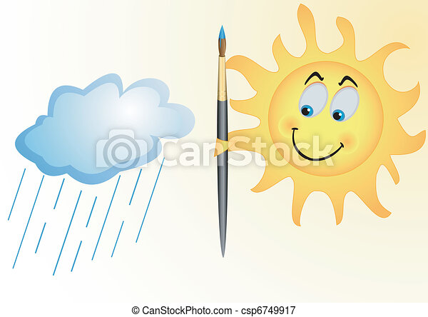 Sonne und Regenwolke - csp6749917