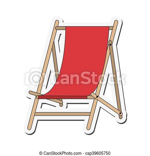Sonnenstuhl clipart  Sonne, stuhl, ikone. Wohnung, sonne, abbildung, vektor, design ...